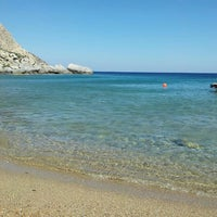 Photo taken at Feroe Beach by Dionisis G. on 7/4/2013
