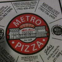 Photo taken at Metro Pizza by Andrea A. on 3/15/2013