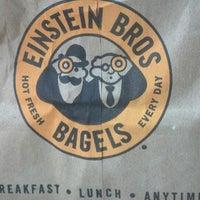 Photo taken at Einstein Bros Bagels by Kristin R. on 8/26/2013