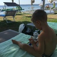 Photo taken at Bernadin Strand - Beach by Lena on 9/4/2016