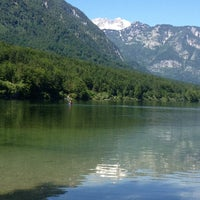 Photo taken at Bohinjsko jezero (Bohinj Lake) by Cary L. on 6/13/2013