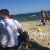 Photo taken at vizyon beach by Gizem I. on 7/17/2015