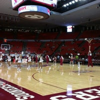 Photo taken at Lloyd Noble Center by Trevor B. on 11/1/2012