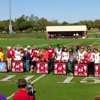 Photo taken at John Crain Field at the OU Soccer Complex by Trevor B. on 10/14/2012