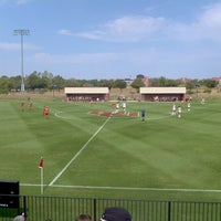 Photo taken at John Crain Field at the OU Soccer Complex by Trevor B. on 9/23/2012