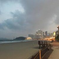 Photo taken at Haeundae Beach by Linda K. on 4/18/2017