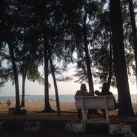 Photo taken at Pantai Puteri by Miss F. on 4/30/2017