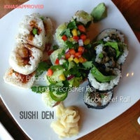 Photo taken at Sushi Den by Jonas on 5/3/2013