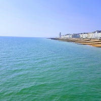 Photo taken at Hastings Pier by Peter H. on 4/8/2017