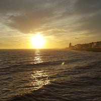 Photo taken at Hastings Pier by Peter H. on 2/20/2017