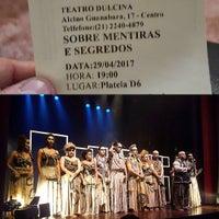Photo taken at Teatro Dulcina by Diego B. on 4/30/2017
