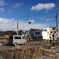 Photo taken at 東北本線 青田村道踏切 by Atsushi B. on 1/10/2014