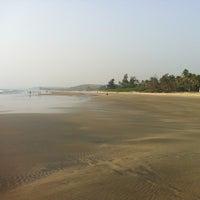 Photo taken at Ashwem Beach by Dmitry K. on 2/13/2013