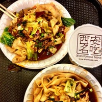 Photo taken at Xi'an Famous Foods by Angel S. on 2/28/2013