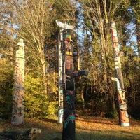 Photo taken at Totem Poles in Stanley Park by Nigel C. on 11/16/2012
