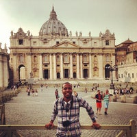Photo taken at Piazza San Pietro by Thad C. on 7/20/2013