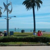 Photo taken at Playa de La Misericordia by Cris d. on 4/7/2013