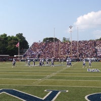 Photo taken at Foreman Field at S.B. Ballard Stadium by Star on 8/30/2014