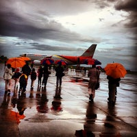 Photo taken at Daniel Z. Romualdez Airport (TAC) by Ezra A. on 12/18/2012