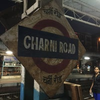 Photo taken at Charni Road Railway Station by JK on 11/12/2015