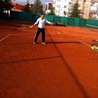 Photo taken at Havuzlu Konak Tenis Kortları by C❤️F K. on 12/21/2014
