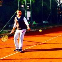 Photo taken at Havuzlu Konak Tenis Kortları by C❤️F K. on 12/28/2014