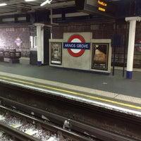 Photo taken at Arnos Grove London Underground Station by Дарья П. on 10/14/2012