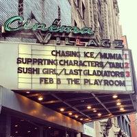 Photo taken at Cinema Village by Shannon V. on 2/1/2013