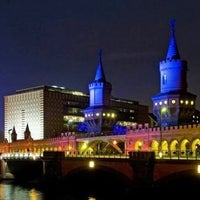 Photo taken at Oberbaumbrücke by Meral S. on 10/10/2012