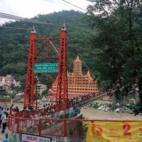 Photo taken at Lakshman Jhula | लक्ष्मण झूला by Sai D. on 6/30/2017