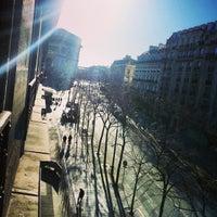 Photo taken at Hôtel Arc de Triomphe Étoile by Doc E. on 12/29/2012