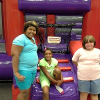 Photo taken at Bounce U by Elissa J M. on 8/19/2013