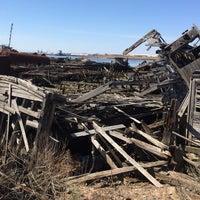 Photo taken at Staten Island Tugboat Graveyard by Ryan S. on 4/12/2014