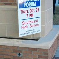 Photo taken at Southeast Guilford High School by Audrey H. on 10/25/2012