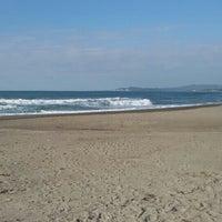 Photo taken at Urbiztondo Beach by Denise S. on 2/9/2016