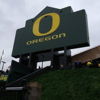 Photo taken at Autzen Stadium by Mike H. on 10/27/2012