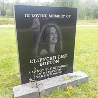 Photo taken at Cliff Burton Memory Stone by Linnéa A. on 7/10/2013