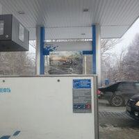 Photo taken at Газпромнефть АЗС № 97 by Alexey M. on 12/9/2012