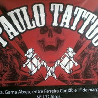 Photo taken at Paulo Tattoo by Camila X. on 9/29/2012