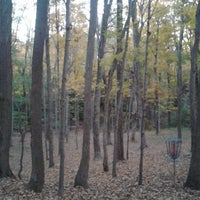 Photo taken at Marshall Street Pyramids Disc Golf Course by Zachary C. on 10/14/2013