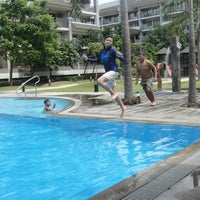 Photo taken at Riverfront Residences - Swimming Pool by Lerie S. on 5/1/2012