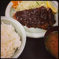 Photo taken at とんかつ 奥三河 by crazy4u2 on 6/22/2013