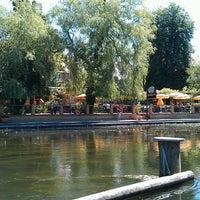 Photo taken at Gasthaus Strandcafé by Mario M. on 7/22/2013