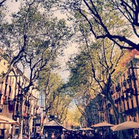 Photo taken at La Rambla by Apartment Barcelona on 5/2/2013