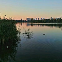 Photo taken at Озеро «Райдужне» by Mutabor Z. on 9/30/2012