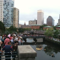 Photo taken at WaterFire Providence - Waterplace Park by Atinuke D. on 7/14/2013