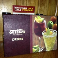 Photo taken at Outback Steakhouse by Chris K. on 10/30/2012