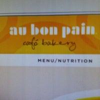 Photo taken at Au Bon Pain by Natalie F. on 9/26/2012