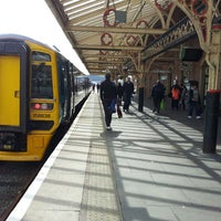 Photo taken at Aberystwyth Railway Station (AYW) by Danny W. on 4/28/2013