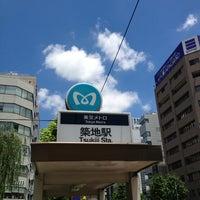 Photo taken at Tsukiji Station (H10) by crueza on 6/27/2013
